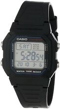 Casio W800H-1A Mens Black Resin 100M Digital Sports Watch 10 YR. BATTERY New