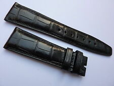 Genuine IWC Black Alligator Crocodile Watch Strap Band 22mm OEM    Brand New