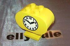 LEGO Duplo Ferrovia Stazione ferroviaria grande orologio per fermata ville CLOCK GIALLO