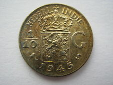 Netherlands East Indies 1/10 Gulden 1945-S, UNC.
