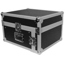Seismic Audio 4 Space Rack Case w/ Slant Mixer Top-Amp Effect PA/DJ Pro Aud