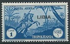 1937 LIBIA POSTA AEREA 1 LIRA MNH ** - ED211-3