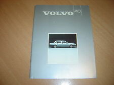 CATALOGUE Volvo 740 de 1985 Belgique