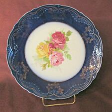 BEAUTIFUL Trent WOOD & SON Antique FLOW BLUE PLATE Made In England EXCELLENT