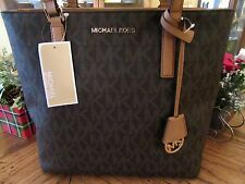 MICHAEL KORS BROWN SIGNATURE MORGAN MEDIUM TOTE SATCHEL PURSE $228 NEW