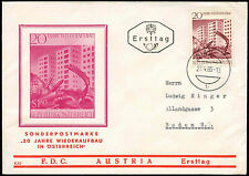Austria 1965 20 Years Of Reconstruction FDC First Day Cover #C23743