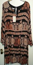 Monsoon Keeva dress uk 18 black / orange bnwt lined