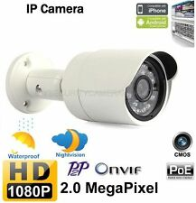1080P HD 2Megapixel Onvif Outdoor Bullet IR Security CCTV Network IP Camera PoE