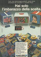 X2434 Cinevisor MUPI - Goldrake - Braccio di ferro - Pubblicità 1980 - Advert.
