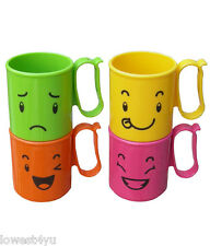TUPPERWARE MOOD MUGS FOR COFFEE set of 4 used with half,one liter fliptop bottle