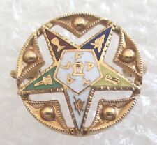 Vintage 14K Yellow Gold Order of the Eastern Star Ladies Pin-Masonic OES NICE!