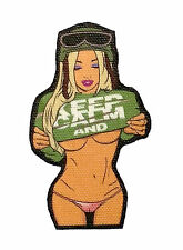 KEEP CALM Undressed Sexy Girl Camel Toe Thong Printed Tactical Morale Patch