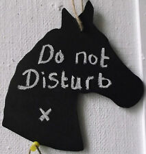 HORSE SHAPED chalkboard birthday christmas gift stable tack DO NOT DISTURB a