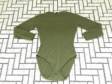"Womens Johnstons Of Elgin Cashmere Body Top Long Sleeves 34"" Olive Green Ladies"