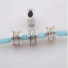 Pretty Wholesale 50pcs Silver Metal Bead Loose Spacer Jewelry Finding 6mm Charms