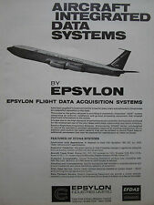 7/1969 PUB EPSYLON FLIGHT DATA BOEING 707 AIRLINER SAA SOUTH AFRICAN AIRWAYS AD