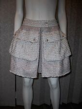 CHANEL Fall 2011 11P Tweed Pleated Mini Skirt with Pockets 34 FR / 0 US $2620