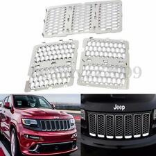 Upper Grille Insert Honeycomb Grill Mesh Chrome For Jeep 14-15 Grand Cherokee