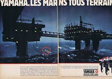 PUBLICITE ADVERTISING 114 1984 YAMAHA moteur hors bord  (2 pages)