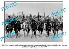 OLD LARGE PHOTO, 2nd MOUNTED RIFLES,BOER WAR 1901, BREAKER MORANT