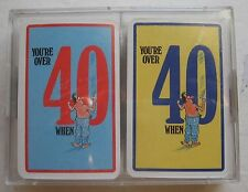 You're Over 40 When Double Deck Playing Cards in Plastic Case 2 Decks Men
