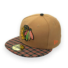 NEW ERA CHICAGO BLACKHAWKS 59FIFTY NHL PLAID FITTED CAP 7 3/8 – 58.7cm