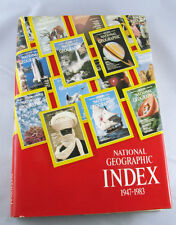 1947-1983 NATIONAL GEOGRAPHIC Hardcover Index Book with Dust Jacket (VG+)