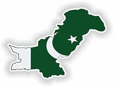 Pakistan Map Flag Sticker Silhouette for Bumper Helmet Car Fridge Laptop Door