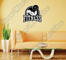"""Fitness Gym Exercise Workout Health Wall Sticker Room Interior Decor 22""""X22"""""""