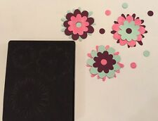 Sizzix Die Garden Flower Layer Felt Scrapbook Retired Black Large Bigz originals
