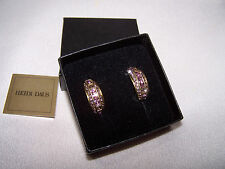 "HEIDI DAUS Couture Crystal Earrings ""Tantalizing Trio"" Vintage Rose (DS)"