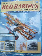 BUILD THE RED BARON'S FIGHTER PLANE FOKKER DR1  HACHETTE  ISSUE 49  NEW SEALED