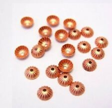 5 mm Genuine Solid Copper Bead Cap /Hole .9 MM Pkg. Of 50 (Copper Findings)