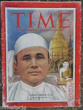 Time Magazine  August 30,1954  *Burma's Premier U Nu*  GREAT ADS