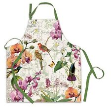 Michel Design Works Cotton Apron Orchids in Bloom - NEW