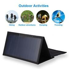 Foldable 21W Solar Power Panel Charger Portable Outdoor Charger Dual 5V USB U9W5