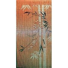 Bamboo Beaded Hanging Curtain Divider Room Wall Doorway Patio Porch Panel Art