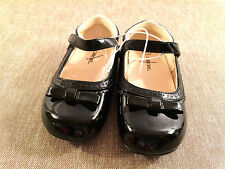 toddler girls CHEOKEE dress shoes NEW size 10 NWT black patent flats