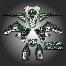 KAWASAKI KX450F KXF 450 2009 - 2011 GRAPHICS KIT DECALS EVIL JOKER WHITE
