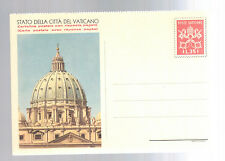 Mint Vatican Postal Stationery ps Picture postal card St Peters Cathedral Dome