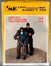 CMK CZECH MASTER'S KITS F-48020 - GERMAN PILOT WWII + GROUND CREW - 1/48 RESIN