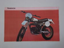 - RITAGLIO DI GIORNALE 1982 MOTO HUSQVARNA WR 125