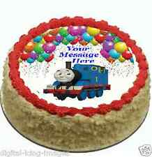 Thomas the Tank Cake topper edible image icing Birthday Party REAL FONDANT