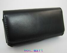 Black Cell Phone Leather Case Holster Belt Clip Pouch for Apple iPhone 6S plus