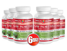 Saw Palmetto Berry Extract 160mg. Supports Prostate Health (6 Bot, 360 Softgels)