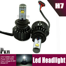 30W 3600Lum H7 Car LED Headlight Kit Driving Lamp Turbo Fan Canbus Driver 6000K