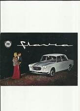 LANCIA FLAVIA SEDAN SALES BROCHURE  ENGLISH  EARLY 60's