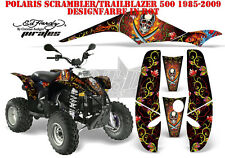 AMR RACING DEKOR KIT ATV POLARIS SCRAMBLER/TRAILBLAZER ED-HARDY PIRATES B