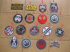 17 PCS STAR WARS MOVIE Collection iron on PATCH BADGE FREE SHIPPING