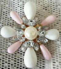 STUNNING SCAASI CN Signed Genuine Necklace Brooch Pin Pendant Maltese Cross WOW!